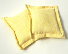 Heat Therapy Rice Bags  Set of 2  Yellow  by monichelledesigns