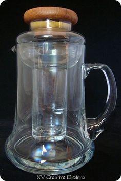 Vintage Winsome Glass Tube Cooling Margarita Pitcher w Genuine Teak Wood Lid | eBay http://stores.ebay.com/KV-Creative-Designs