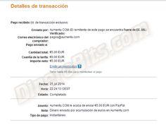Ganar dinero con redes sociales: Primer pago de Aumentu: http://dinerobits.com/aumentu-paga/