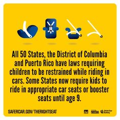 Visit safercar.gov/therightseat for more information.