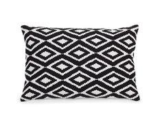 NORDIC - Accent cushion 15.5'' x 23.5'' - Black