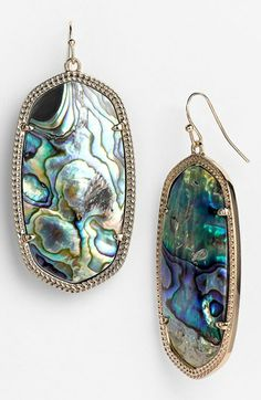 Well clearly I need these.  They have my name on them! haha. Kendra Scott 'Danielle - Large' Oval Statement Earrings available at #Nordstrom