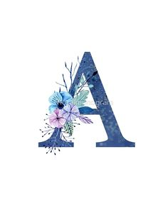 Monogram A Icy Winter Bouquet by floralmonogram s alphabet 'Monogram A Icy Winter Bouquet' by floralmonogram Monogram Wallpaper, Alphabet Wallpaper, Name Wallpaper, Wallpaper Iphone Cute, Cute Wallpapers, Wallpaper Backgrounds, Monogram Design, Lettering Design, Hand Lettering
