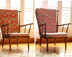 Le relooking de mon fauteuil chiné ! The vintage armchair relooking on the blog !