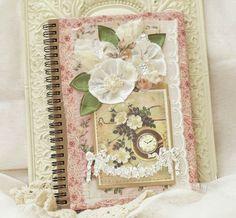 Pretty journal. Make something like this for mom's birthday?