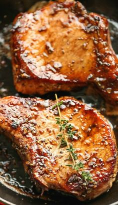 Easy Pork Chops with Sweet and Sour Glaze