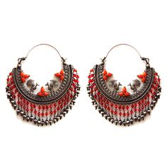 Certified Antique silver jewelry tribal Looking Dangle earring Christmas gift #viditajewels