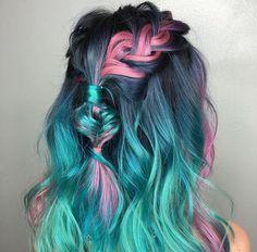 Amazing unicorn inspired hair x