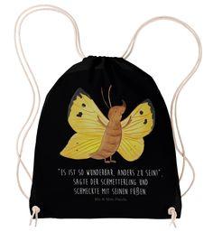 """Sportbeutel Schmetterling Zitronenfalter aus Baumwolle  Natur - Das Original von Mr. & Mrs. Panda.  Dieser wunderschöne Sportbeutel von Mr. & Mrs. Panda ist aus 100% ökologischer Baumwolle gefertigt. Er wird von uns Im Hause mit zertifizierten Farben liebevoll bedruckt. Er hat die Maße 38x42cm und ist natürlich problemlos bei 30 Grad waschbar.     Über unser Motiv Schmetterling Zitronenfalter  Unser Zitronenfalter freut sich des Lebens, ein Teil der """"Mr & Mrs Panda"""" Familie zu sein. Denn…"""