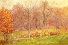 """Autumn Rain"", huile sur toile de Julian Alden Weir (1852-1919, United States)"