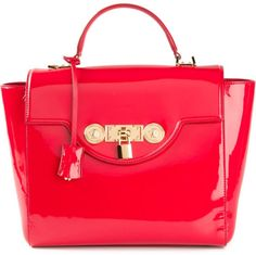 Versace Signature Padlock Tote in Red - Lyst