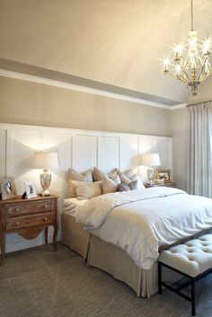 Master Bedroom at Villages of Stonelake Estates Model in Frisco, TX #ShaddockHomesTX #MasterBedroom