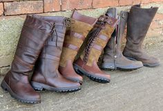 Collection of Kanyon Outdoor country boots.