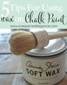 Tips for Using Wax on Chalk Paint {Video Series} Do you have some questions about applying wax to your chalk painted piece? Get 5 tips for using wax on chalk paint and quick video explanation.Do you have some questions about applying wax to your chalk pai Chalk Paint Wax, Using Chalk Paint, Chalk Paint Projects, Chalk Paint Furniture, Milk Paint, Diy Projects, Furniture Design, Chalk Paint Tutorial, Paint Ideas