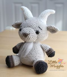 Gordy the billy goat amigurumi crochet pattern by Little Muggles ... Ok this is too cute!!! And so goes with my household!