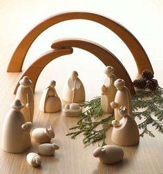 Modern German Nativity set