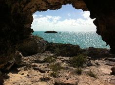 "Providenciales: View from a small ""cave"" near Cooper Jack Marina via whit4brains"