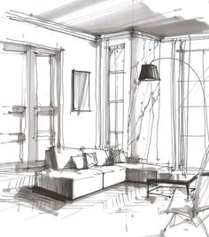 design sketch architecture * design sketch ` design sketches fashion ` design sketchbook ` design sketching ` design sketch architecture ` design sketches fashion how to draw ` design sketch art ` design sketch product Model Architecture, Architecture Design Concept, Architecture Drawing Art, Drawing Interior, Interior Design Sketches, Interior Rendering, Architectural Design House Plans, Sketch Design, Architect Drawing
