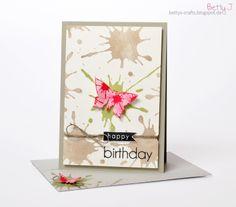 DIY happy birthday card with simple video tutorial