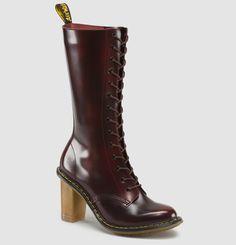 LOUISE burgundy doc marten heels