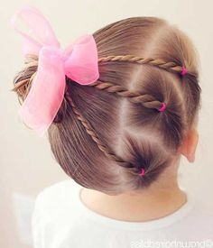 Coupe De Cheveux Fille - Makeup and Tattoo Ideas Natural Bun Hairstyles, Easy Toddler Hairstyles, Cute Little Girl Hairstyles, Little Girl Braids, Baby Girl Hairstyles, Girls Braids, Cool Hairstyles, Natural Hair Styles, Braided Half Updo