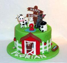 Bauernhof Torte Birthday Cake Farm Birthday Cakes, Animal Birthday Cakes, Animal Cakes, Cake Pops, Purple Velvet Cakes, Farewell Cake, Farm Cake, Horse Cake, Number Cakes
