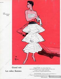 Jacques Griffe, 1955, by René Gruau