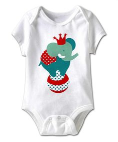 Look at this White Circus Elephant Bodysuit - Infant on #zulily today!