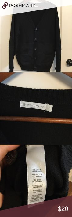 Alternative Apparel black cardigan Great condition. Worn less than 3 times. 95% of cotton and 5% of cashmere. nice outfit if you wear. Price is negotiable. Bundle of 2 will get discount Alternative Apparel Sweaters Cardigan