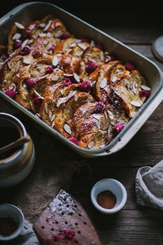 Baked Raspberry Almond French Toast