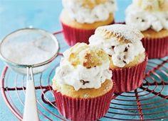 Sankt Hans muffins med skum af jordbær