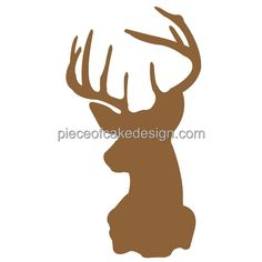 3' Round ~ Deer Head Silhouette Birthday ~ Edible Image Cake/Cupcake Topper!!! * Discover this special product, click the image : Decorating Tools
