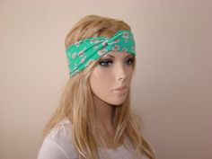 Hey, I found this really awesome Etsy listing at https://www.etsy.com/listing/189345243/floral-turban-headband-mint-daisies