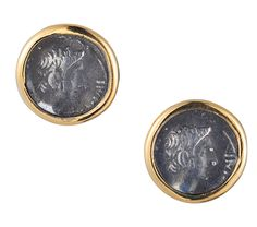 1884 Collection: Stud Earrings w/ 1 Coin