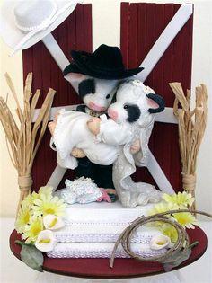 Mary Moo Wedding | Mary Moos Country Western Cows Wedding Cake Topper | eBay