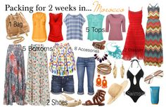 """""""Packing for 2 weeks in... Morocco"""" by fashion-by-k on Polyvore"""