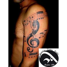 MUSIC TATTOO by ARTEFATOTATTOO ❤ liked on Polyvore featuring accessories and body art