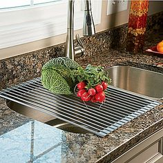 Over-the-Sink Roll Up Drying Rack