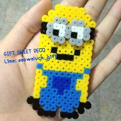 Despicable Me Minion perler beads by gift_sweetdeco
