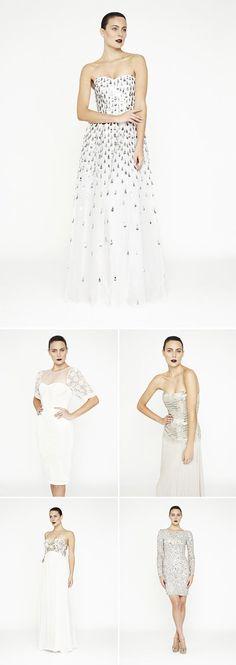 wedding dresses by Rachel Gilbert   via junebugweddings.com