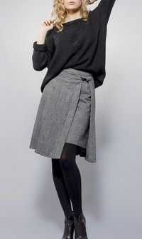 Women's Fashion Dresses, Skirt Fashion, Elegantes Business Outfit, Trendy Outfits, Cool Outfits, Smart Casual Wear, Estilo Lolita, Moda Chic, Knit Skirt