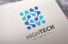 High Tech Logo by IkarGraphics on Tech Branding, Tech Logos, Initial Letters, Letter Logo, Brochure Design, Branding Design, Medical Logo, Typographic Logo, Geometric Logo