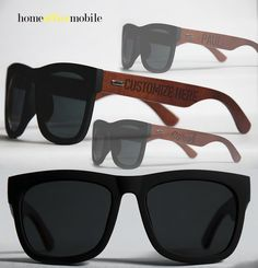 Wooden Sunglasses - Handmade sunglasses, made with maple wood with cherry stain finish