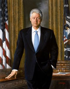 The Official Portrait: When Simmie Knox unveiled his portrait of Bill (as well as one of Hillary) Clinton in 2004, he became the first African American to paint an official White House Portrait of a President.