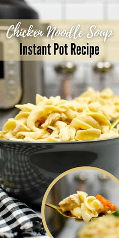Start making your awesome meal plan for the next few weeks and add this delicious Chicken Noodle Soup to your list. This recipe is hearty and easy to cook with the help of your favorite Instant Pot. Better save this pin today and get your FREE recipe at the link on this pin, Low Carb Soup Recipes, Healthy Soup Recipes, All You Need Is, Chicken Noodle Soup, Chicken Flavors, Homemade Soup, Yum Yum Chicken, Winter Food, Instant Pot