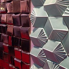 Striking surfaces in metallic finishes and incredible colours on show at #100design from @mambo_unlimitedideas!
