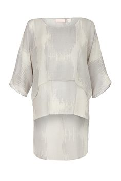 FEET ON THE GROUND - square cut kimono top with stepped hem in a sass & bide exclusive print.