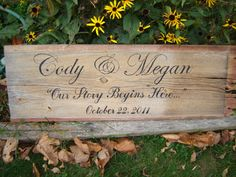 Wooden Barn Board Welcome to our Wedding Sign. $70.00, via Etsy.