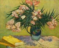 Vincent van Gogh Still Life with oleander painting is shipped worldwide,including stretched canvas and framed art.This Vincent van Gogh Still Life with oleander painting is available at custom size. Vincent Van Gogh, Art Van, Flores Van Gogh, Desenhos Van Gogh, Van Gogh Flowers, Art Flowers, Van Gogh Still Life, Van Gogh Arte, Van Gogh Pinturas