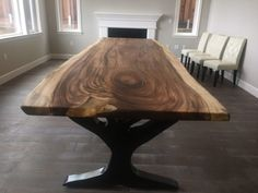 Interiors and Design: Repurposed Furniture Ideas Repainted Furniture Furniture, Dining Table Decor, Repainting Furniture, Custom Table, Dining Table, Table, Reclaimed Wood Furniture, Reclaimed Wood Table, Handcrafted Table